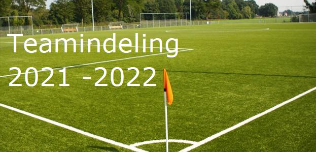 Teamindeling 2021 - 2022